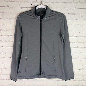 Adidas | Climalite Striped Zip-Up Golf Jacket